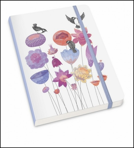 "Notizbuch ""MOKA"" - Mit floralem Design von ""Lovely Objects"" - Format DIN A5"