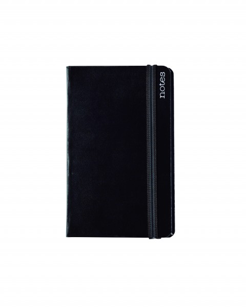 Notes Spine Basic A6, schwarz, blanko
