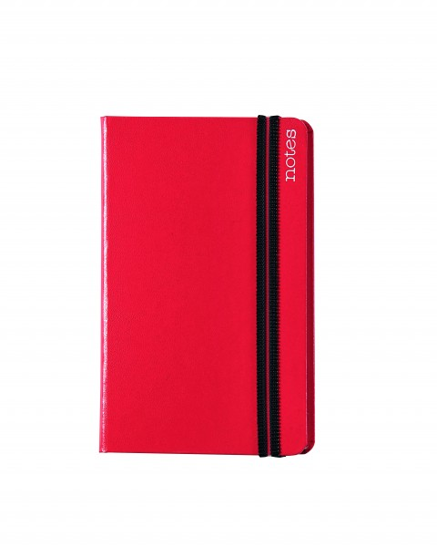 Notes Spine Basic A6, rot, liniert