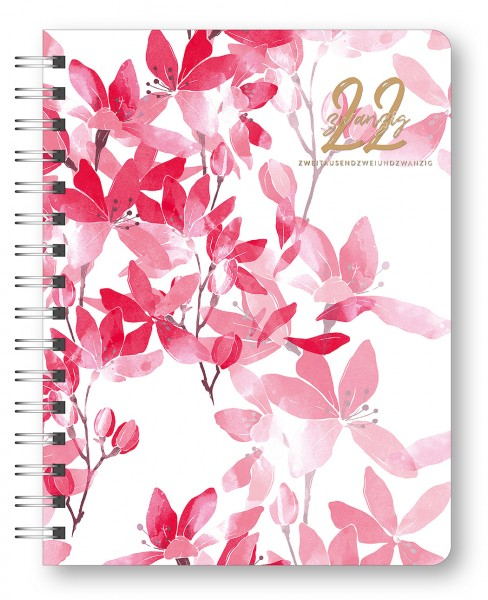 Glamour Planner Pink Flowers 2022 16,5x21,6