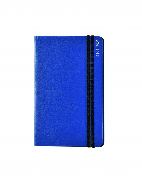 Notes Spine Basic A6, blau, blanko